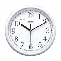 10-inch White Plastic Wall Clock