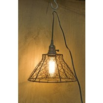 Chicken Wire Lamp w/Cord