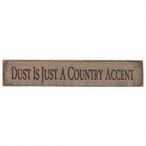 Country Accent Sign, White