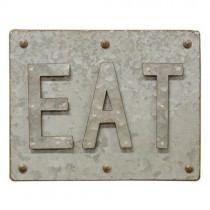 Galvanized Eat Sign