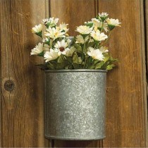 Galvanized Wall Planter