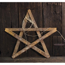 Lath Whitewash Star, 24""