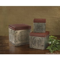 Punched Tin Boxes Set
