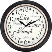 "Westclox 12"" Round Live Love Laugh Message Clock"