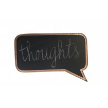 Rose Gold Speech Bubble Chalkboard