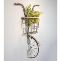 Rustic Metal Wall Bike