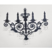 Single-Tier Chandelier Wall Art