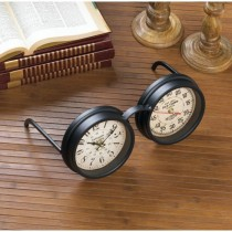 Vintage Spectacles Tabletop Clock