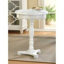 White Shabby Elegance Pedestal Table